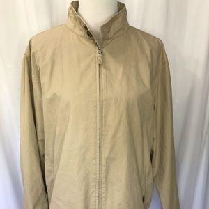 Lands End Jacket 100% Cotton Nylon Liner Large